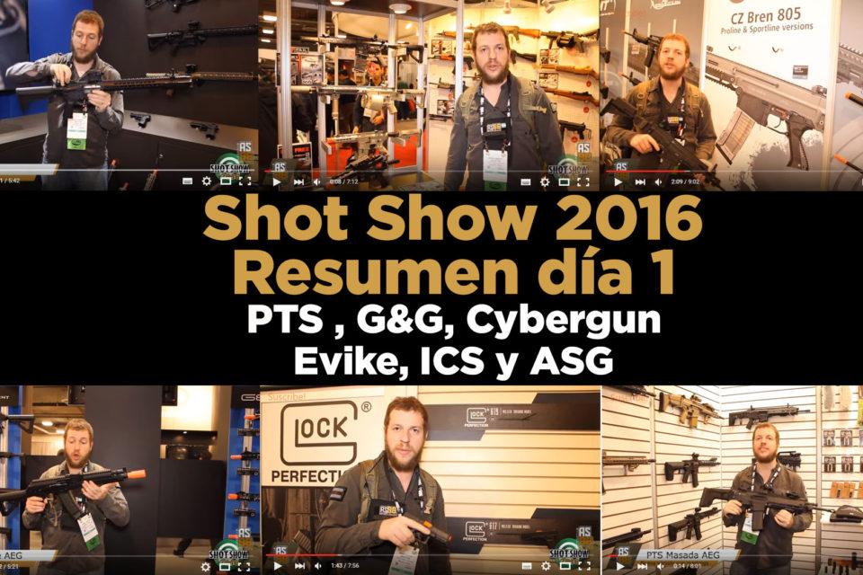 Shot Show 2016 día 1: ICS, ASG, CyberGun, G&G, EVIKE y PTS
