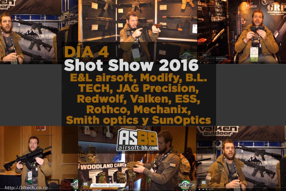 Shot Show 2016 día 4: E&L airsoft, Modify, VFC, JAG Precision, Redwolf, Valken, ESS y más