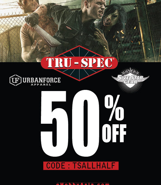 eHobbAsia 50% de descuento en productos TRU-SPEC